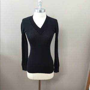 Gap Black Lightweight V-Neck Sweater